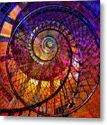 Spiral Spacial Abstract Square Metal Print
