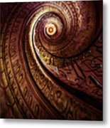 Spiral Staircase In An Old Abby Metal Print