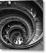 Spiral Stairs Horizontal Metal Print by Stefano Senise
