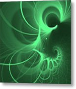 Spiral Thoughts Green Metal Print