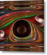 Spiral Warp Metal Print
