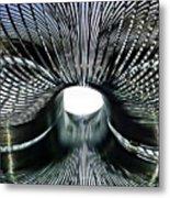 Spiral Wire Bridge Metal Print