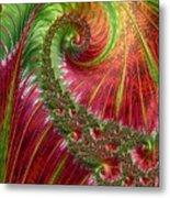 Spiralling Fractal Three Metal Print