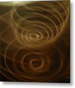 Spirals Of Light Metal Print