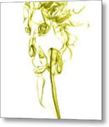 Ghostly Smoke - Yellow Metal Print