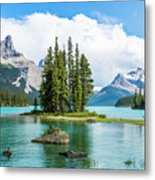 Spirit Island, Jasper National Park Metal Print