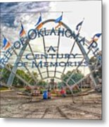 Spirit Of Oklahoma Plaza  Metal Print