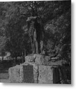 Spirit Of The Confederacy Black And White Metal Print