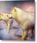 Spirit Of The White Wolf Metal Print