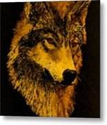 Spirit Wolf Metal Print