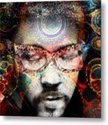 Spiritual Glasses Metal Print