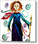 Spiritual Warrior Metal Print
