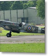 Spitfire On The Ground Metal Print