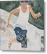 Splash Dance Metal Print