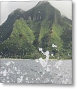 Splash North Shore Kauai Metal Print
