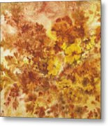 Splash Of Autumn Color Metal Print