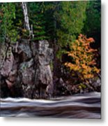 Splash Of Fall Color Metal Print