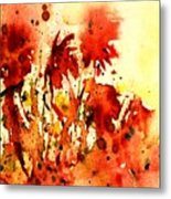 Splash Of Red Metal Print