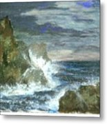 Splashes Of Ocean Waves Metal Print