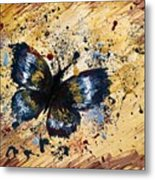 Splatter Butterfly Metal Print