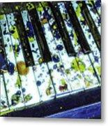 Splattered Keys Metal Print
