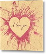 Splattered Love Metal Print