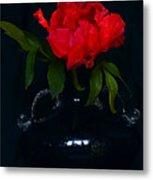 Splendid Peony In Vase. Metal Print