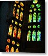 Splendid Stained Glass Windows Metal Print