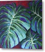 Split Leaf Philodendron Metal Print