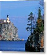 Split Rock Lighthouse - Fs000120 Metal Print