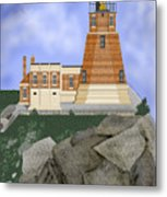 Split Rock Lighthouse on the Great Lakes Metal Print