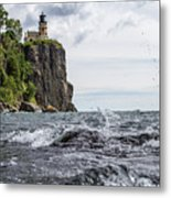 Splitrock Lighthouse 8-4-17 Metal Print