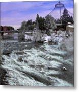 Spokane Pavilion Winter Metal Print