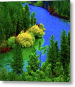 Spokane River Blues Metal Print
