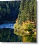 Spokane Rivereflections Metal Print