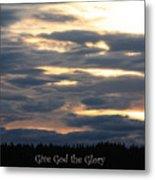 Spokane Sunset - Give God The Glory Metal Print