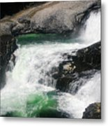 Spokane Water Fall Metal Print