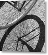 Spoke Shadows Metal Print