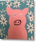 Sponge Pig Metal Print