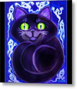 Spooky Cat Metal Print