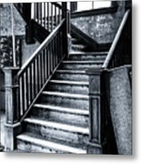 Spooky Grand Staircase Metal Print