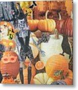 Spooky Harvest Metal Print
