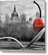 Spoon And Cherry Metal Print