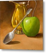 Spoon And Creamer  Metal Print