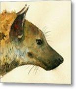 Spotted Hyena Animal Art Metal Print