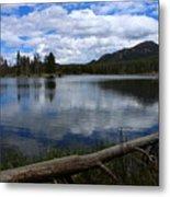 Sprague Lake Cloud Reflection Metal Print