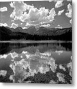 310204-bw-sprague Lake Reflect Bw  Metal Print