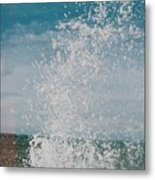 Spray In The Bay Metal Print