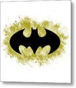 Spray Paint Batman Logo Metal Print