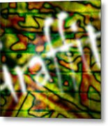 Spray Painted Graffiti Metal Print